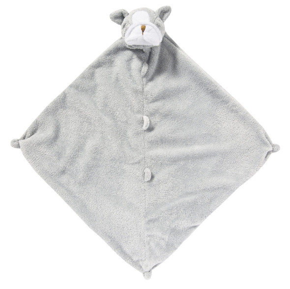 Grey Bulldog Blankie Lovie by Angel Dear