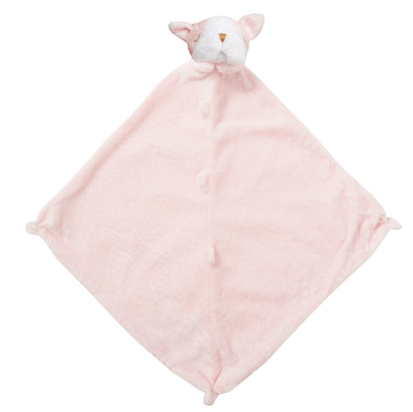 Pink Bulldog Blankie Lovie by Angel Dear