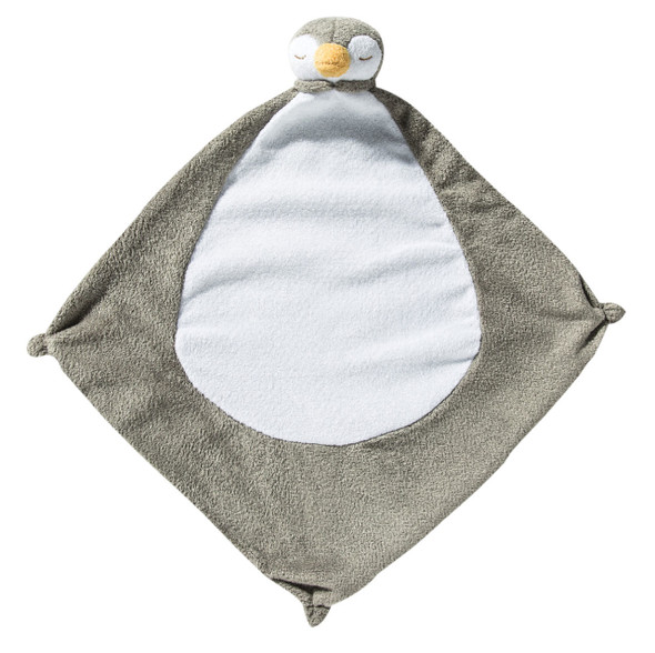 Grey Penguin Blankie Lovie by Angel Dear