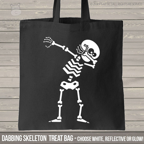 Dabbing Skeleton Trick or Treat Bag