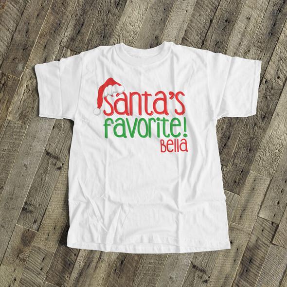 Santa's favorite bodysuit or Tshirt