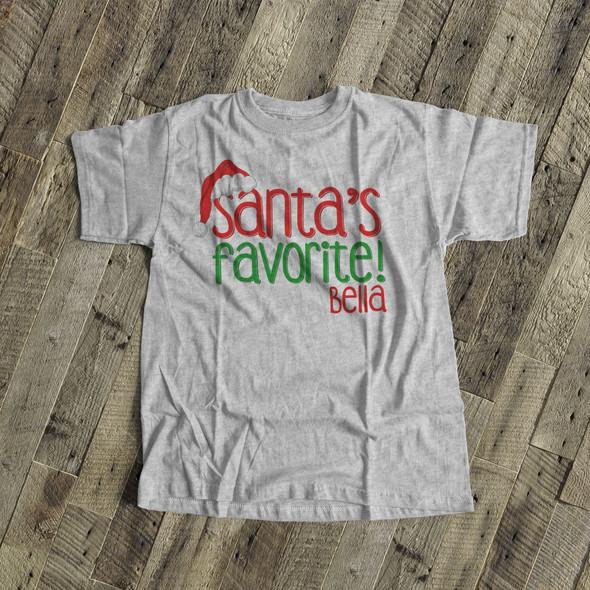 Santa's favorite unisex adult Tshirt