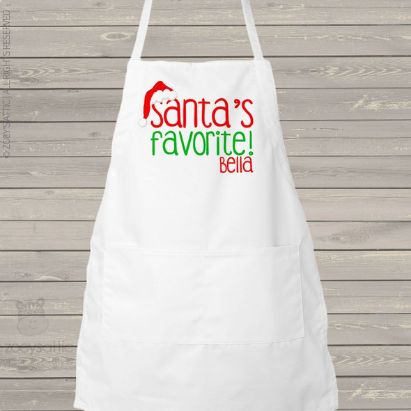 Santa's favorite holiday adult apron