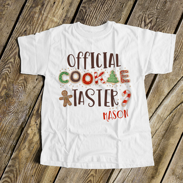 Official cookie taster holiday bodysuit or Tshirt