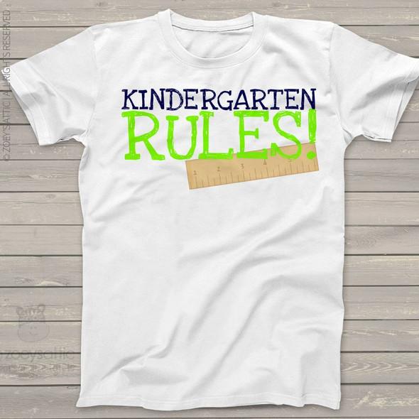 Kindergarten rules personalized Tshirt