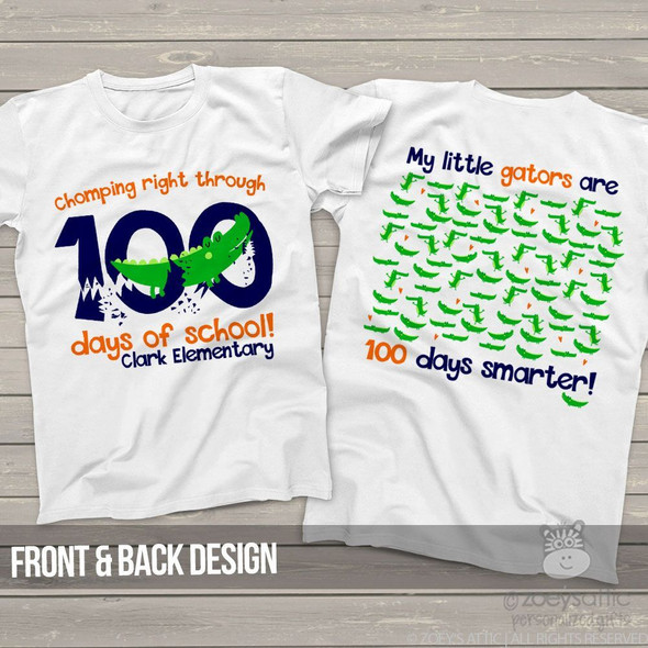 Teacher 100 days smarter gators Tshirt