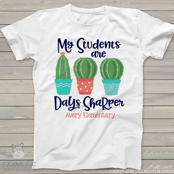Teacher 100 days sharper cactus Tshirt