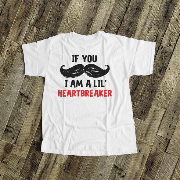 Mustache lil heartbreaker bodysuit or Tshirt