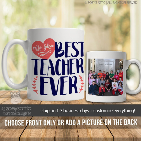 Best teacher ever coffee mug