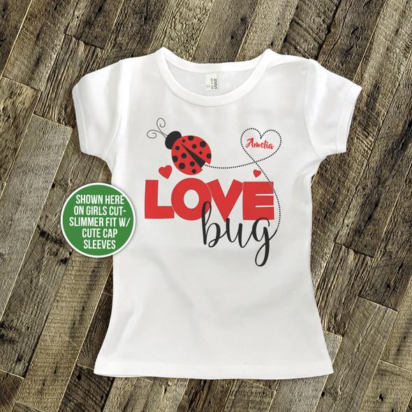 Valentine love bug childrens Tshirt
