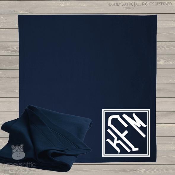 Monogram fleece blanket