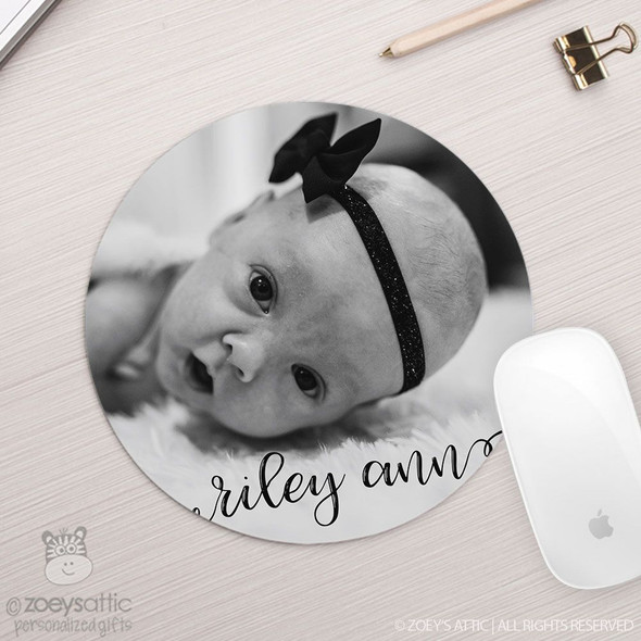 Personalized photo round / circular mousepad
