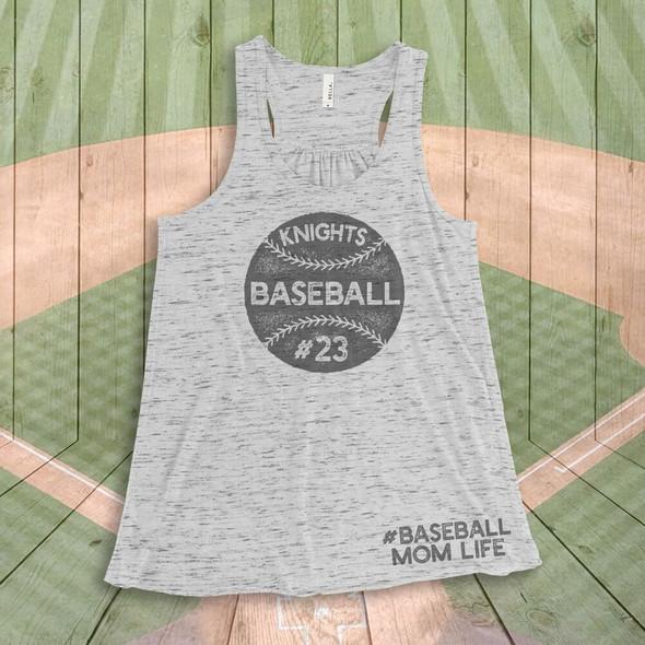 Baseball mom life flowy tank top