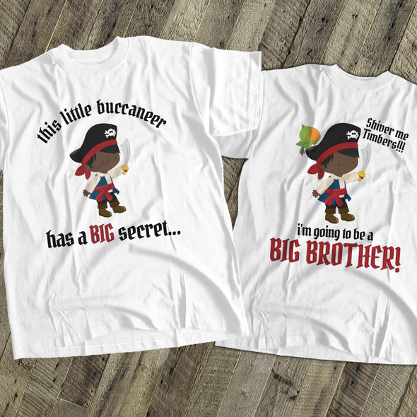 Big brother to be pirate secret pregnancy announcement Tshirt