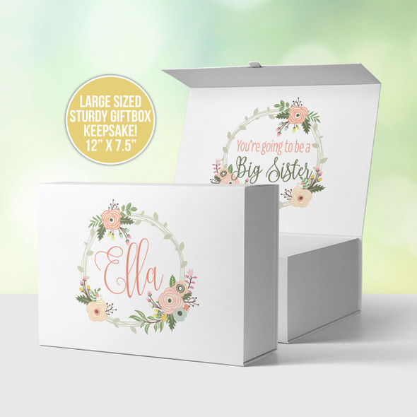 Big sister announcement personalized gift box and optional matching shirt