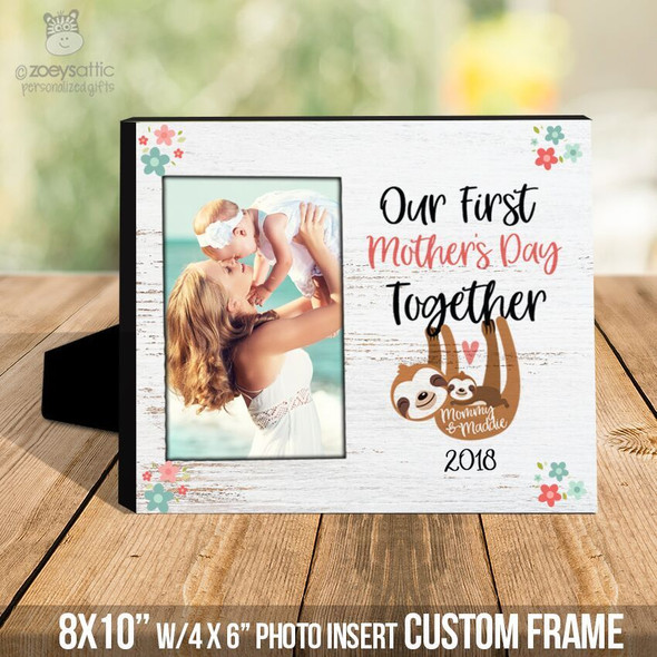 First Mothers Day together sloth photo frame