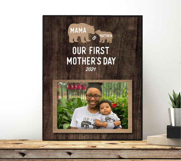 First Mothers Day bear photo frame
