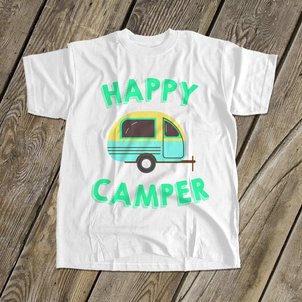 Happy camper kids camping vacation Tshirt