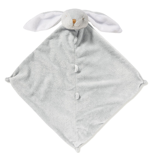 Grey Floppy Ear Bunny Blankie Lovie by Angel Dear