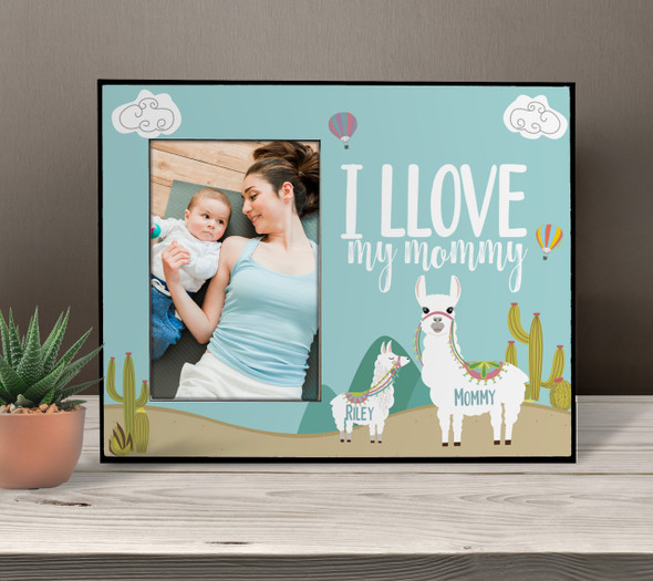 Love my mommy llama photo frame