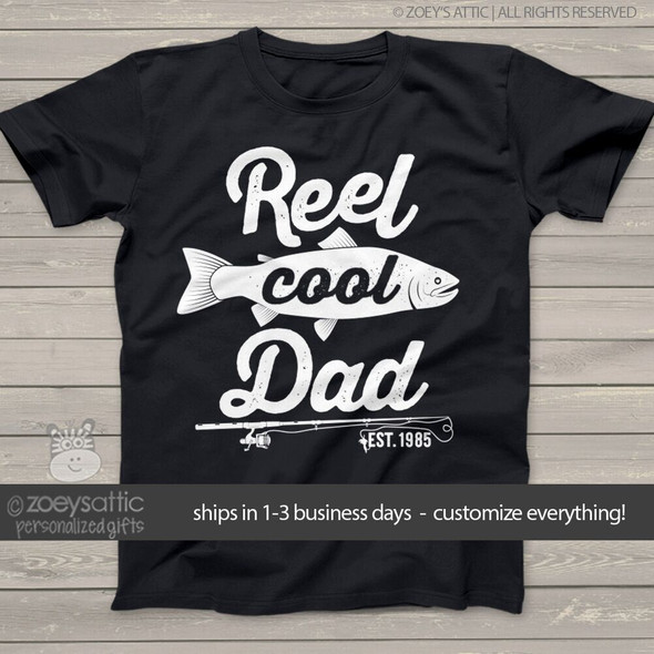 Reel cool dad DARK Tshirt