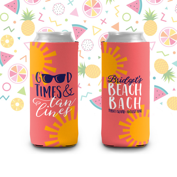 Bachelorette good times beach party can coolies