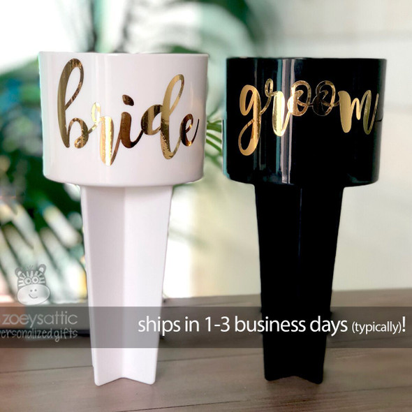 Bride and groom beach spiker set