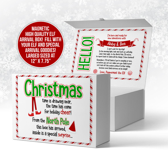 Elf on the shelf box, Christmas gift box, arrival box MEB-002