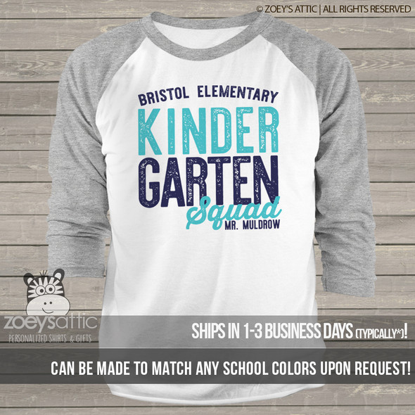 Teacher any grade squad unisex adult raglan shirt MSCL-140r