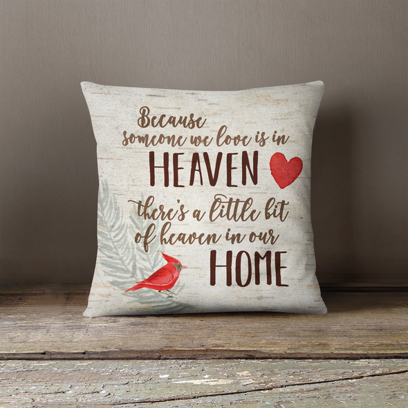 Someone we love memorial remembrance canvas pillowcase pillow