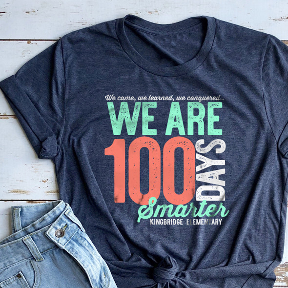 Teacher 100 days smarter we came learned conquered DARK Tshirt