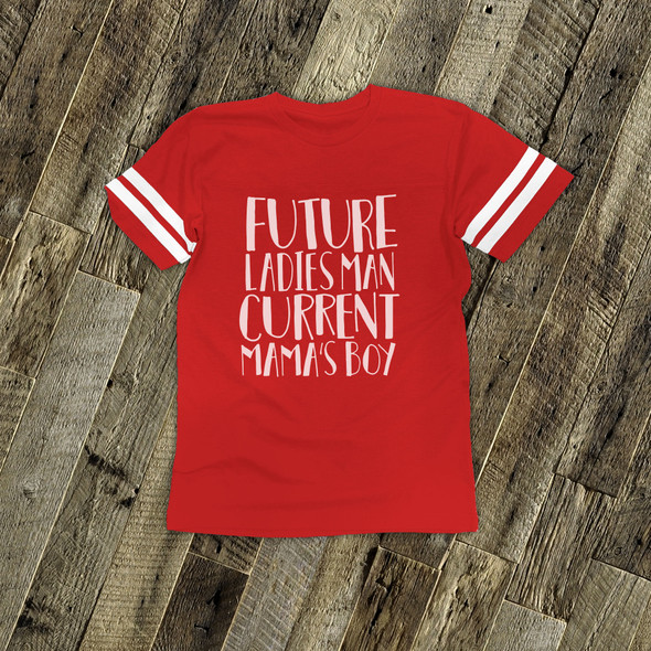 Valentine future ladies man RED football tshirt