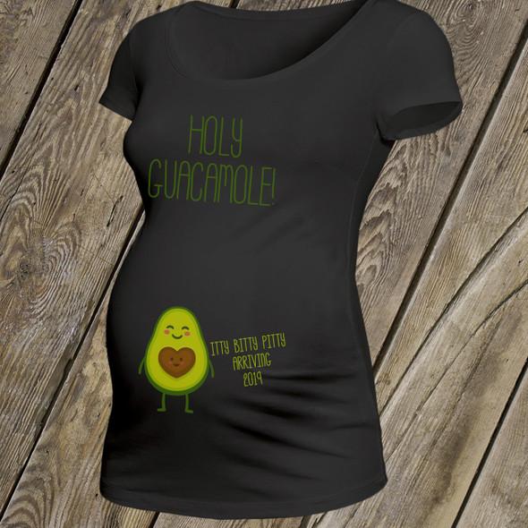 Funny holy guacamole BLACK non-maternity or maternity shirt