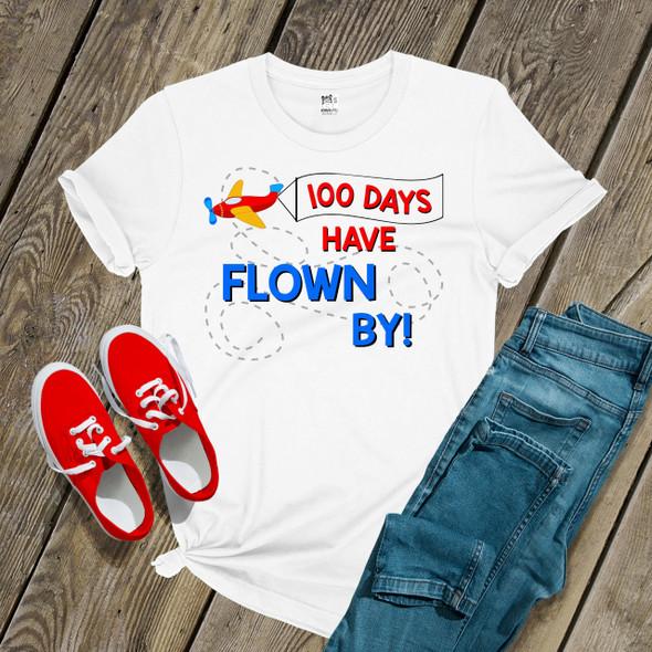 Teacher 100 days flown by airplane Tshirt