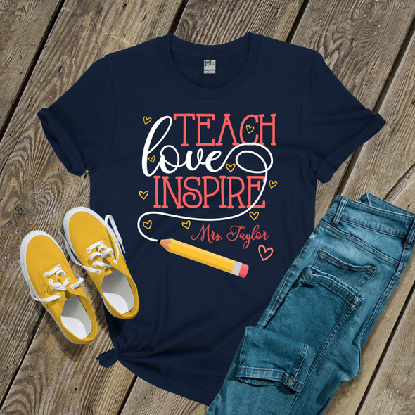 Teach love inspire DARK shirt