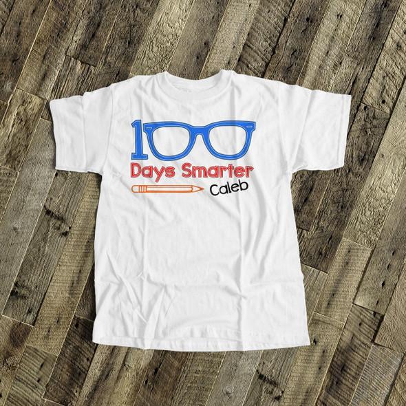 Student 100 days smarter eyeglasses Tshirt