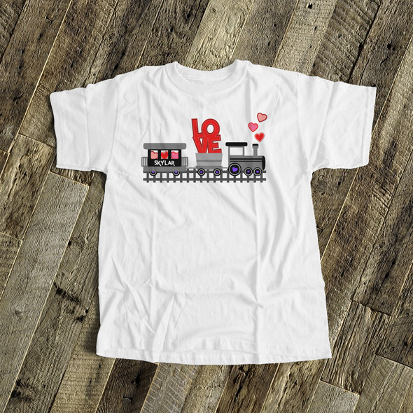 Valentine love train personalized Tshirt