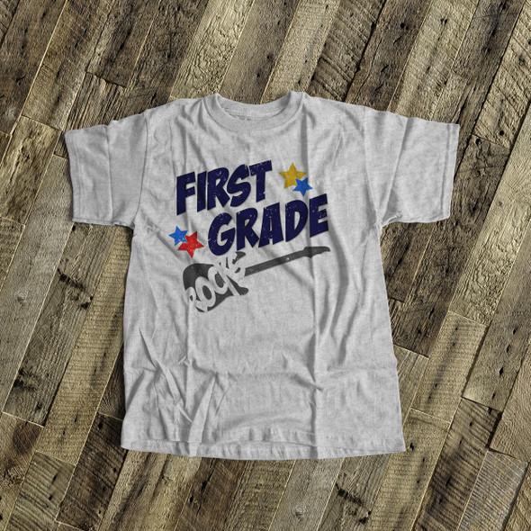 Student first grade rocks guitar Tshirt