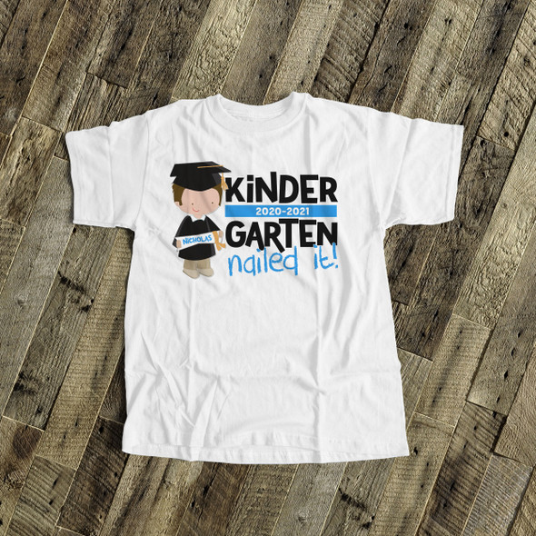Kindergarten nailed it boy graduation Tshirt