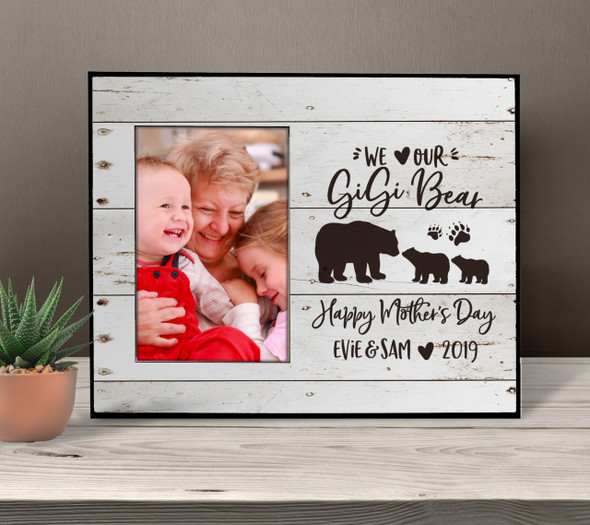 We heart our gigi bear photo frame gift from grandkids