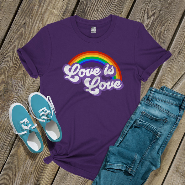 Love is love rainbow pride DARK shirt