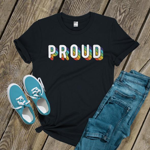 Pride rainbow proud DARK shirt