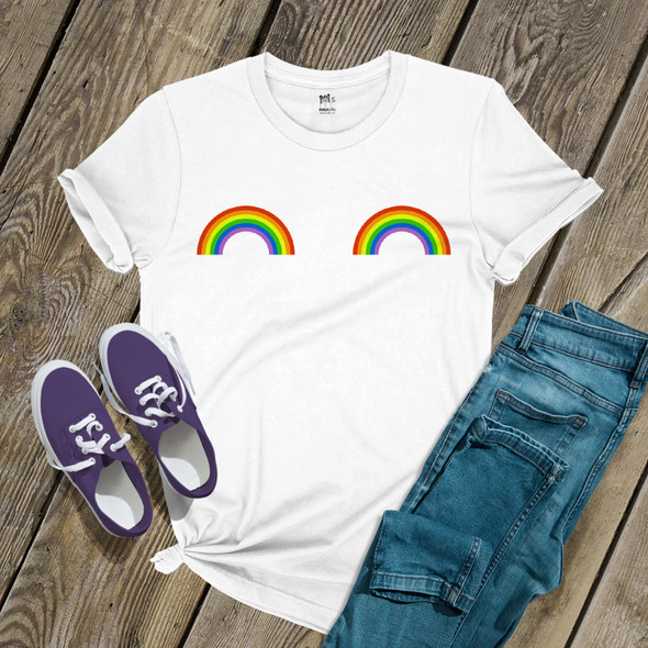 Pride rainbow boobs unisex Tshirt