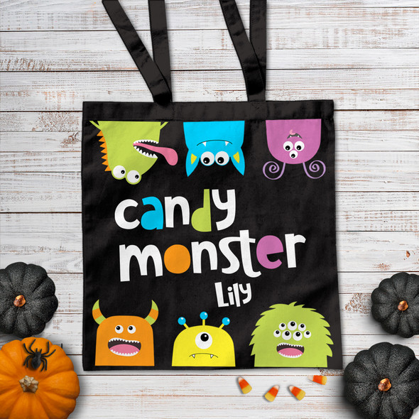 Halloween candy monster DARK trick or treat bag