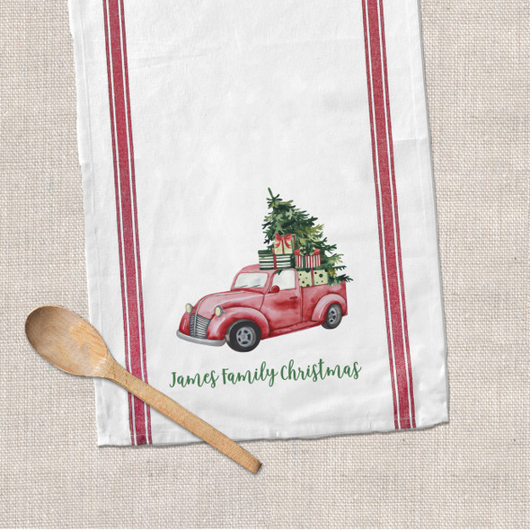 Christmas family decorative tea towel
