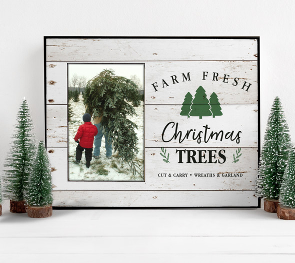 Christmas farm fresh Christmas trees photo frame