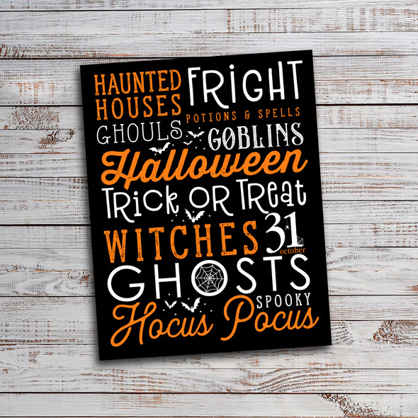 Halloween subway art poster DIY print yourself digital file