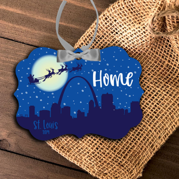 Saint Louis skyline home  Christmas ornament