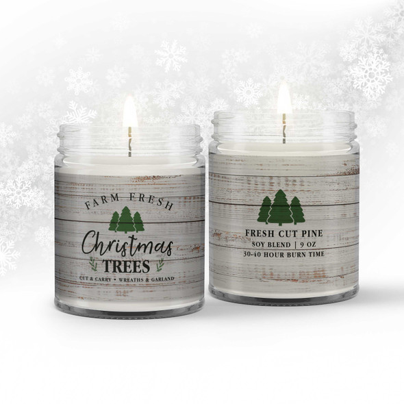 Farm fresh Christmas trees soy blend wax candle