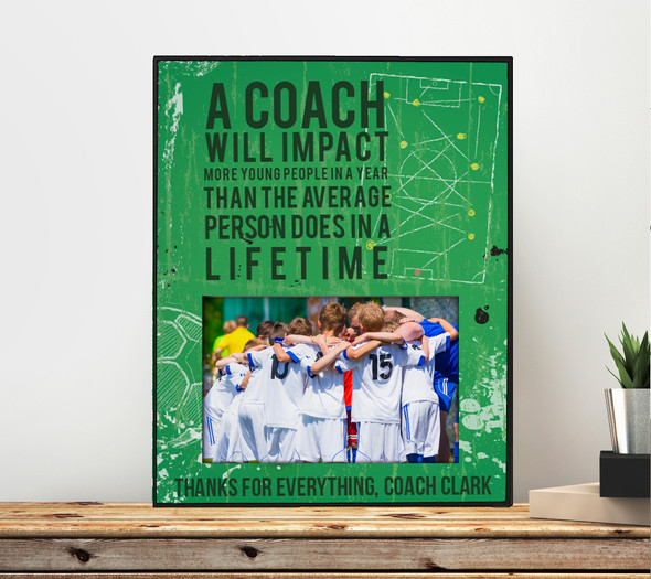 Coach thanks for everything personalized photo frame gift
